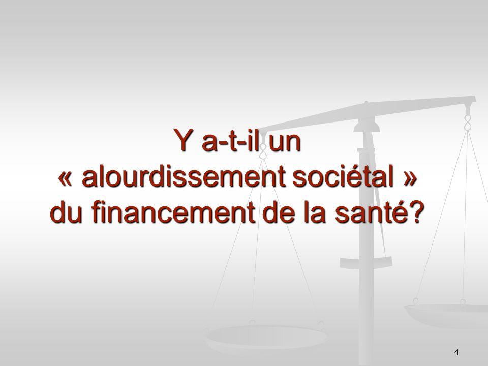 4 Y a-t-il un « alourdissement sociétal » du financement de la santé