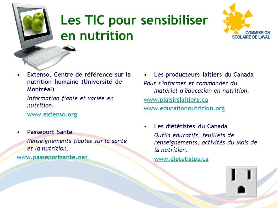 Les producteurs laitiers du Canada Pour sinformer et commander du matériel déducation en nutrition. www.plaisirslaitiers.ca www.educationnutrition.org