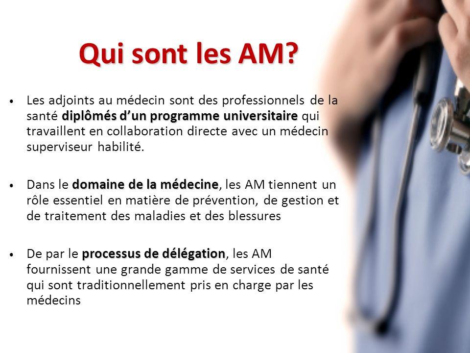 diplômés dun programme universitaire Les adjoints au médecin sont des professionnels de la santé diplômés dun programme universitaire qui travaillent en collaboration directe avec un médecin superviseur habilité.