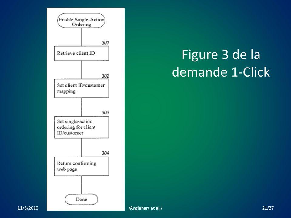 Figure 3 de la demande 1-Click 11/3/201021/27/Anglehart et al./