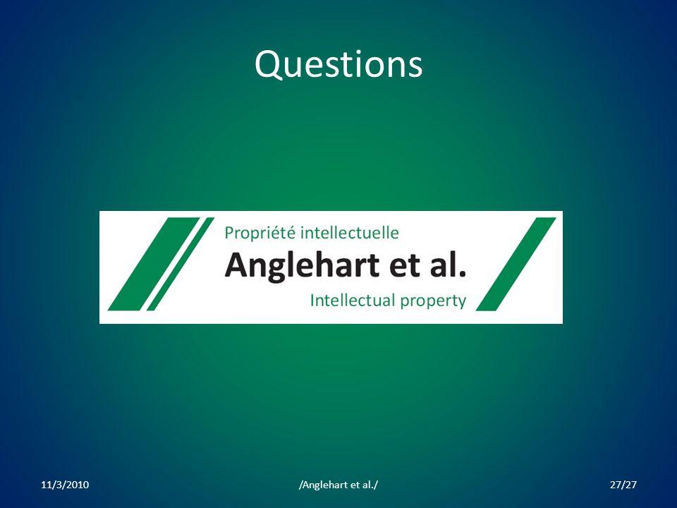 Questions 11/3/201027/27/Anglehart et al./