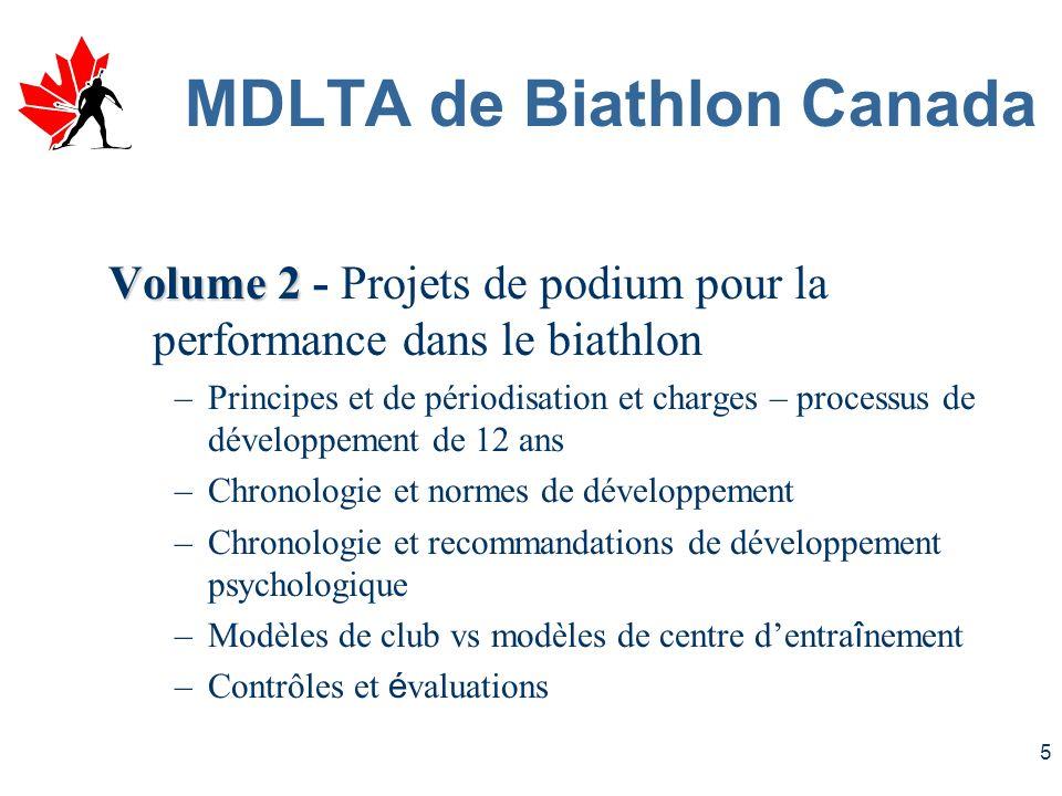 4 MDLTA de Biathlon Canada Volume 1 Volume 1 - La promotion du sport et du développement pour le bien-être des Canadiennes –Science du sport et MDLTA