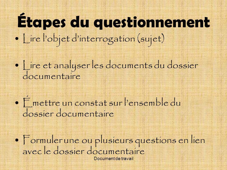 Document de travail Lidée de lappartenance nationale, aujourdhui, au Québec