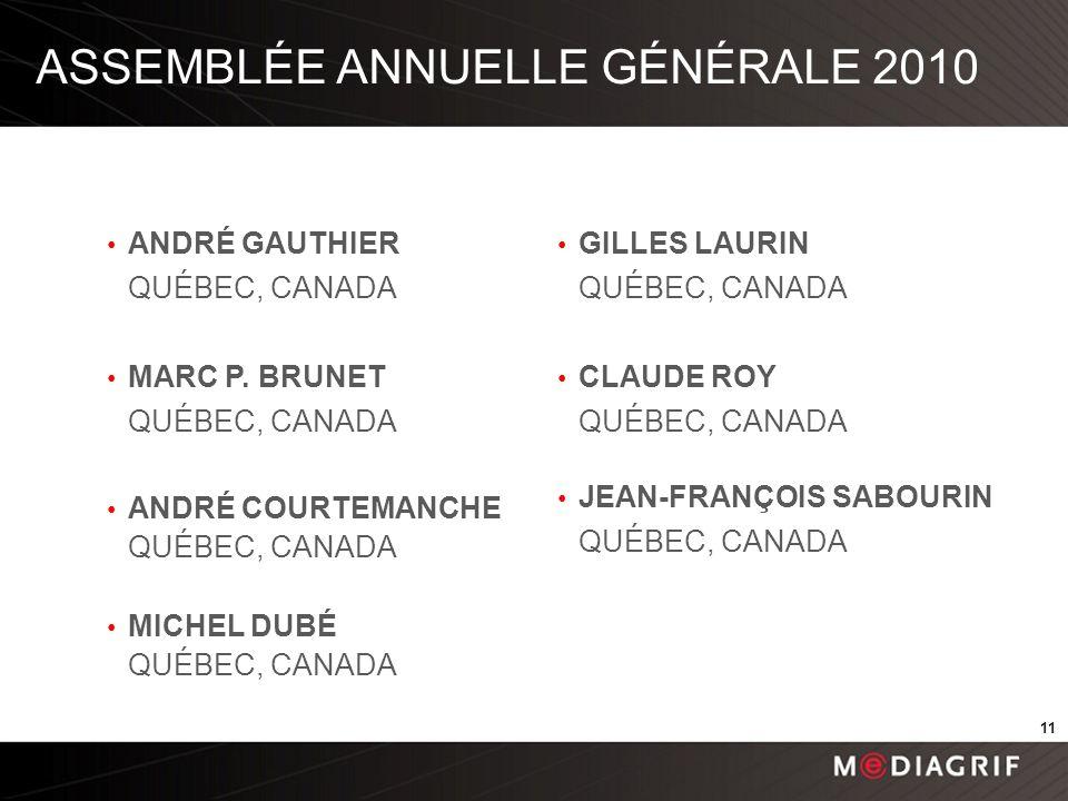 ANDRÉ GAUTHIER QUÉBEC, CANADA MARC P.