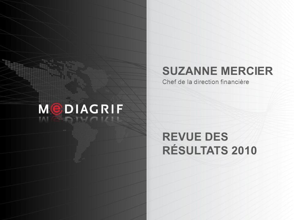 17 SUZANNE MERCIER Chef de la direction financière REVUE DES RÉSULTATS 2010