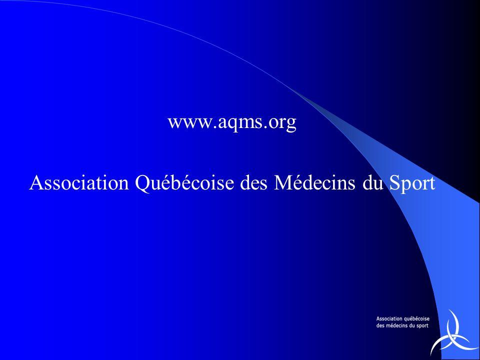 www.aqms.org Association Québécoise des Médecins du Sport