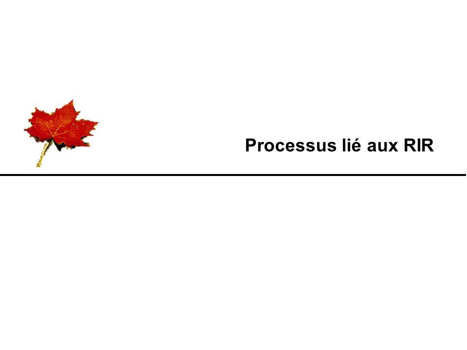 Processus lié aux RIR