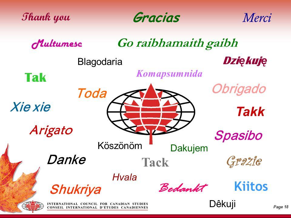 Page 18 Go raibhamaith gaibh Obrigado Danke Gracias Merci Bedankt Spasibo Xie xie Arigato Dzi ę kuj ę Grazie Toda Takk Shukriya Komapsumnida Thank you Tak Kiitos Tack Blagodaria Hvala Dêkuji Köszönöm Multumesc Dakujem