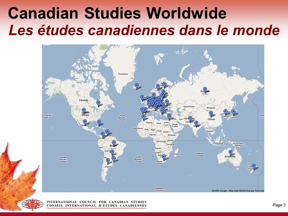 Page 3 Canadian Studies Worldwide Les études canadiennes dans le monde