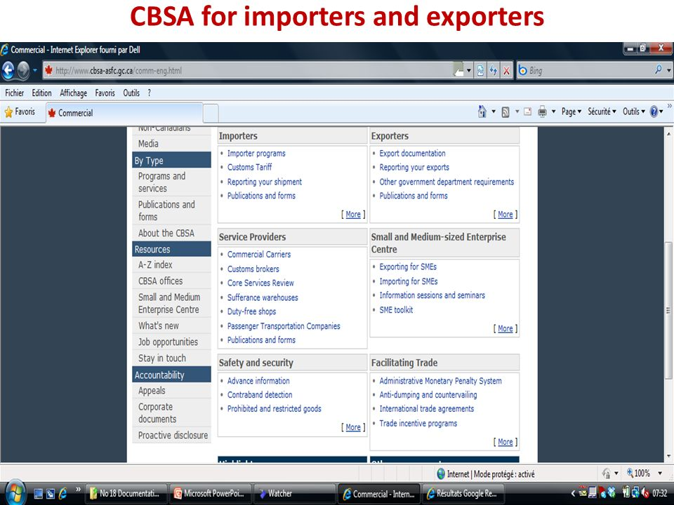 CBSA for importers and exporters