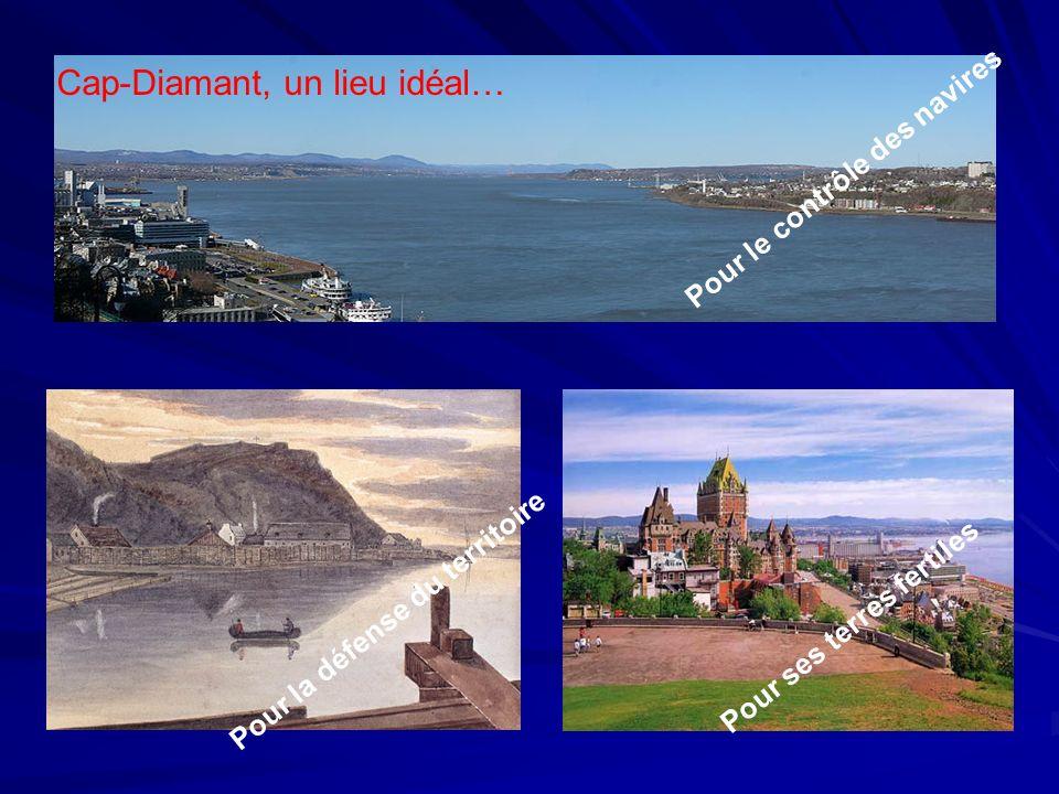Cap-Diamant, un lieu idéal… Pour le contrôle des navires Pour la défense du territoire Pour ses terres fertiles