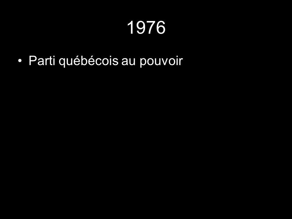 1976 Parti québécois au pouvoir