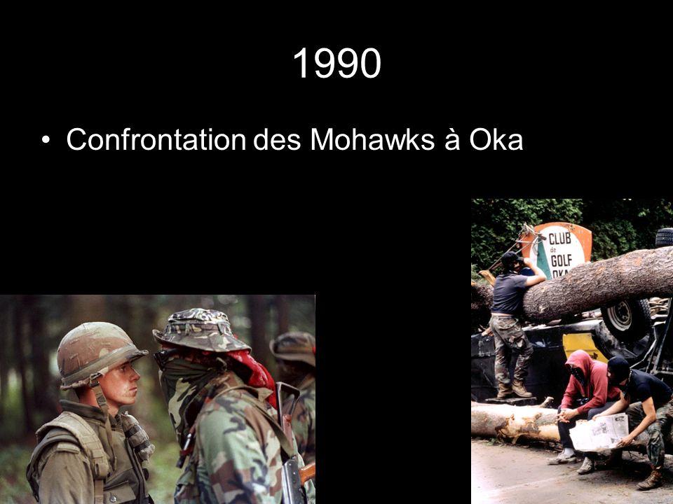 1990 Confrontation des Mohawks à Oka