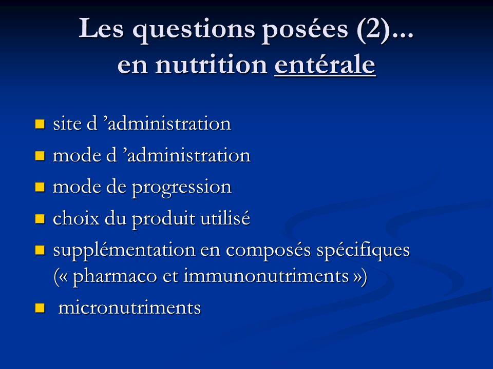Les questions posées (2)...