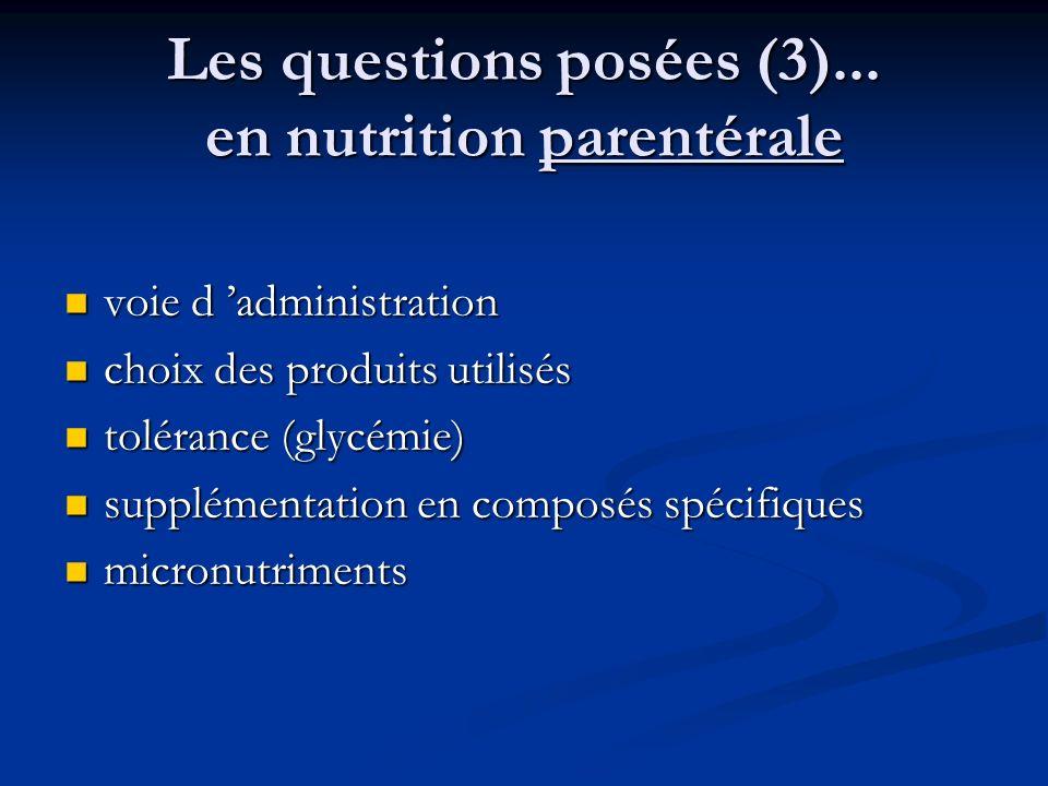 Les questions posées (3)...