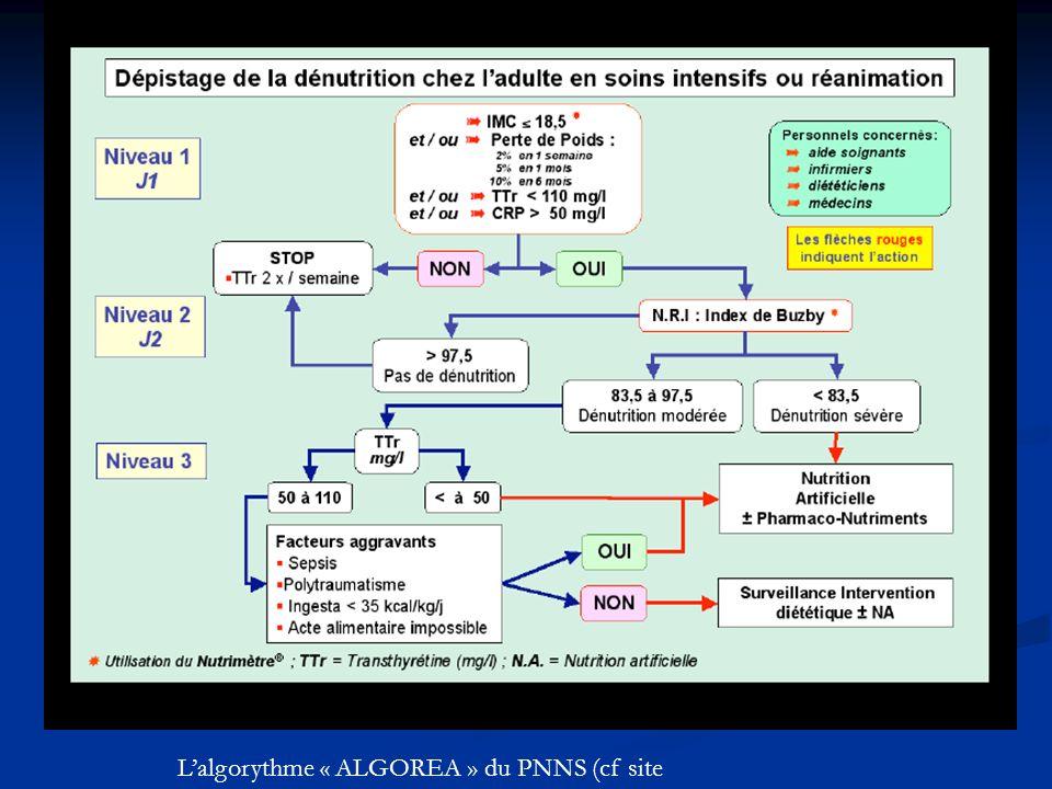 Lalgorythme « ALGOREA » du PNNS (cf site