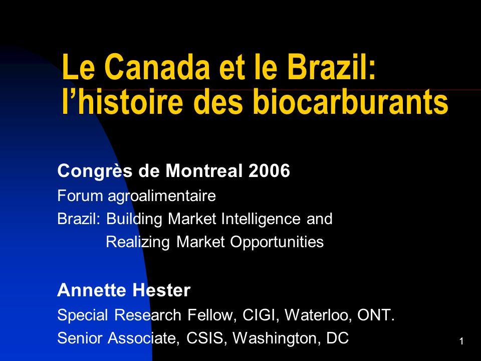 2 Du micro au macro De lagriculture à la géopolitque en 20 minutes Le Brésil: un succès en biocarburants Léthanol: moteur de croissance Entrée des États-Unis, puis du Canada La géopolitique énergétique de lhémisphère ouest Équilibre futur.