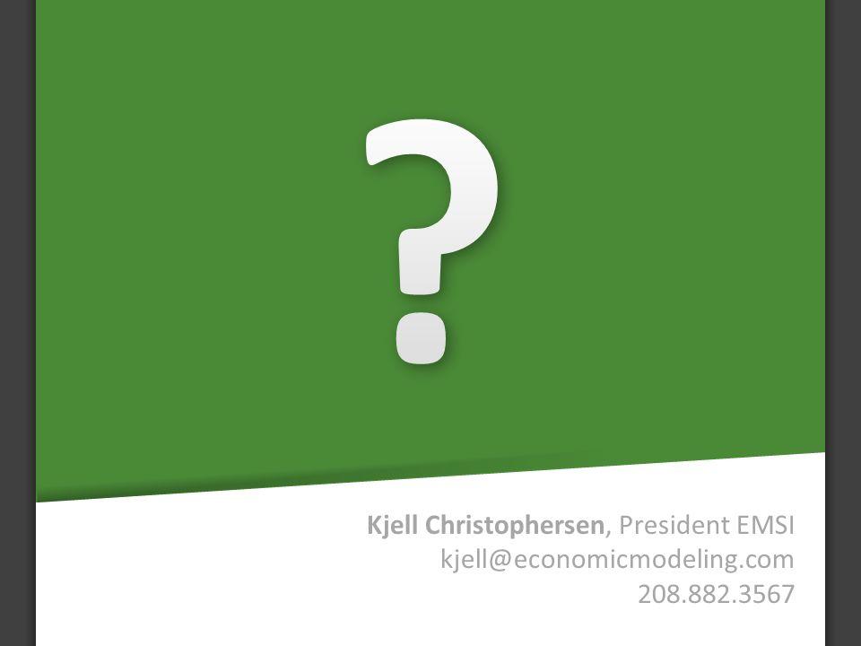 Kjell Christophersen, President EMSI kjell@economicmodeling.com 208.882.3567