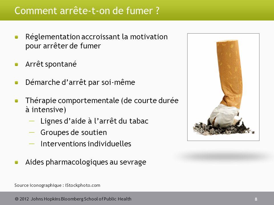 2012 Johns Hopkins Bloomberg School of Public Health Comment arrête-t-on de fumer ? Réglementation accroissant la motivation pour arrêter de fumer Arr