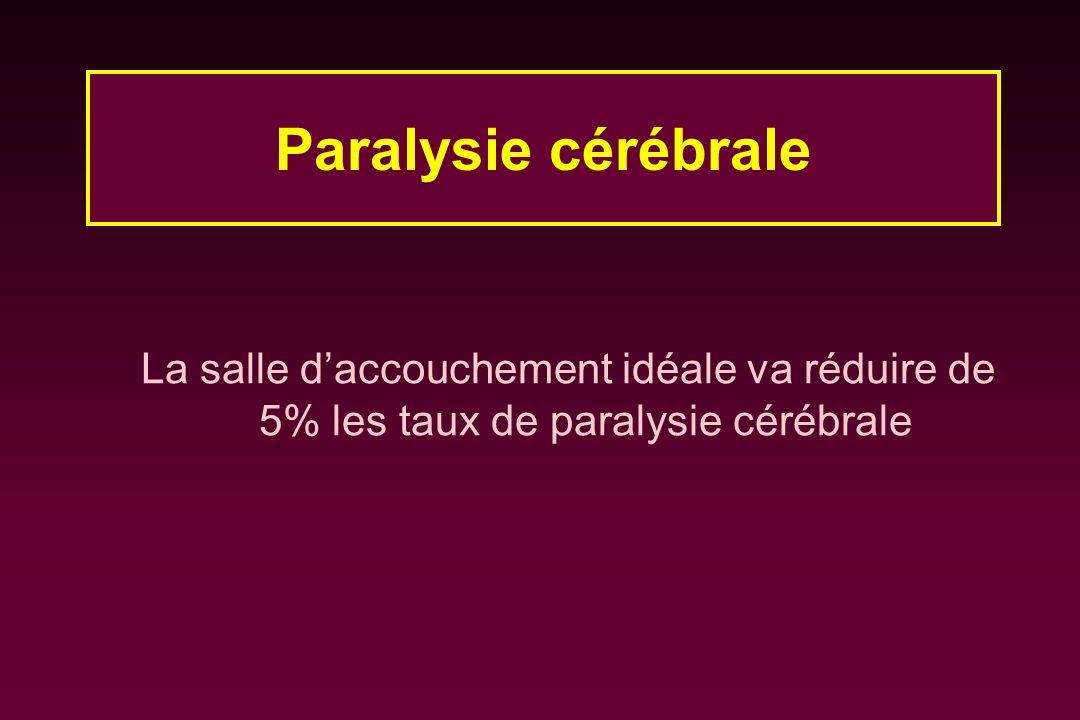 La salle daccouchement idéale va réduire de 5% les taux de paralysie cérébrale Paralysie cérébrale