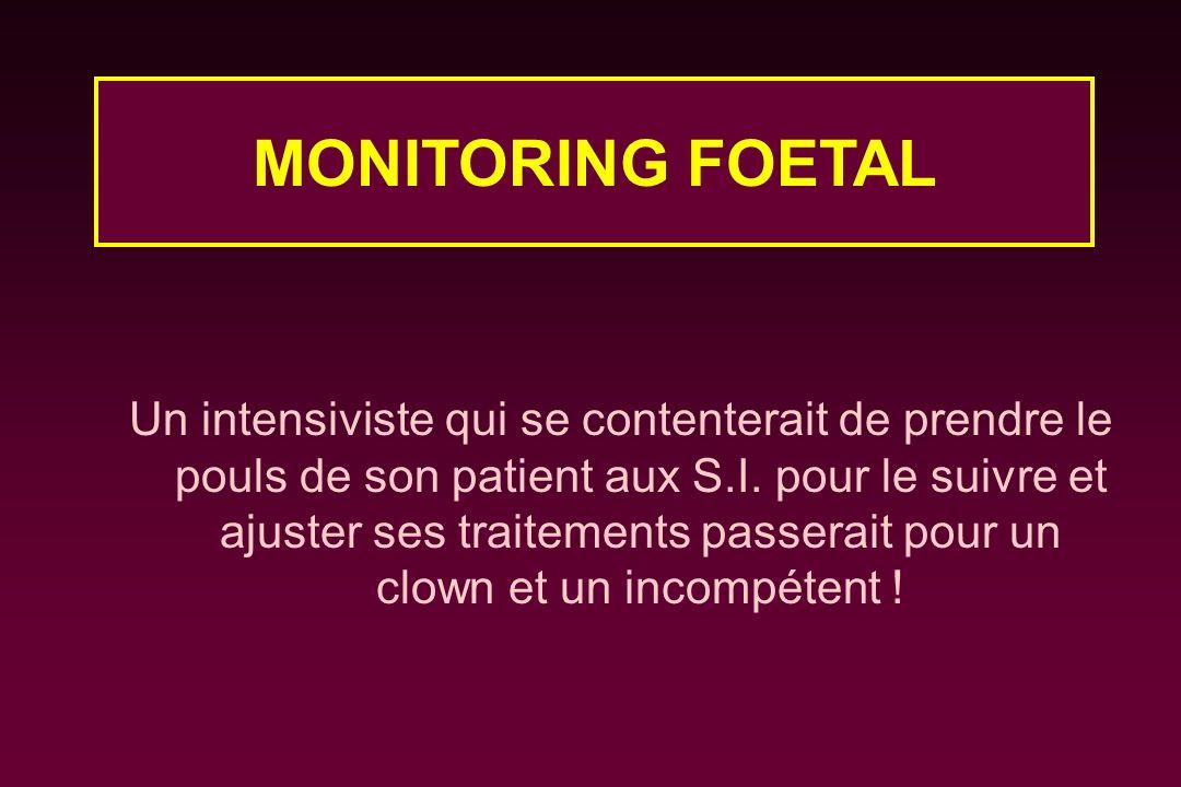 Un intensiviste qui se contenterait de prendre le pouls de son patient aux S.I. pour le suivre et ajuster ses traitements passerait pour un clown et u