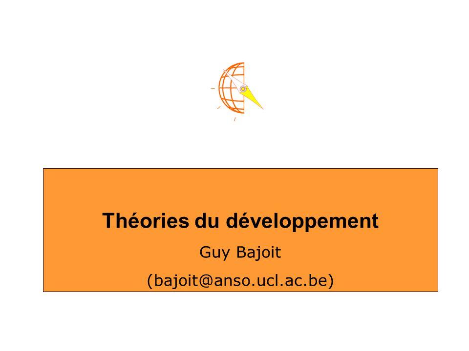 Théories du développement Guy Bajoit (bajoit@anso.ucl.ac.be)