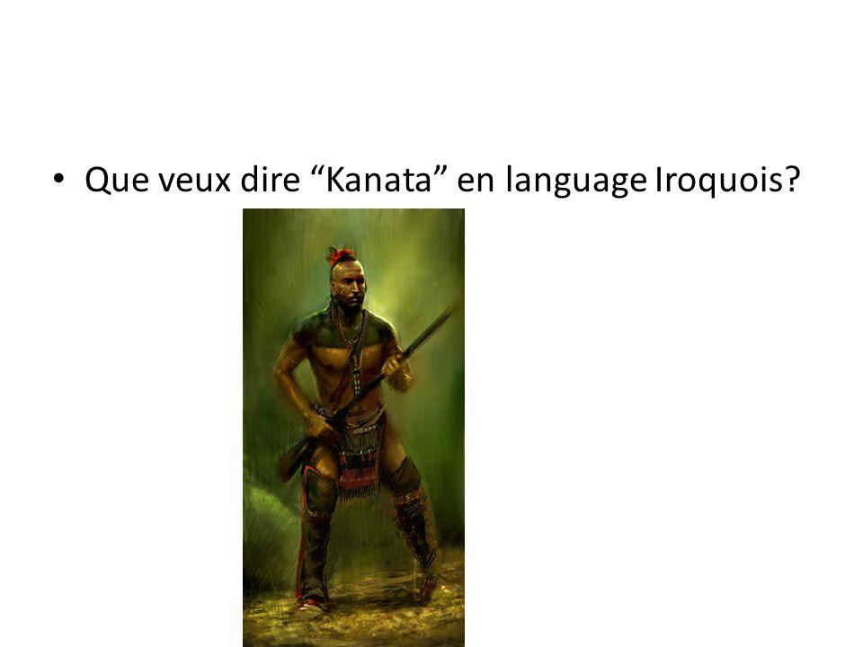 Que veux dire Kanata en language Iroquois?
