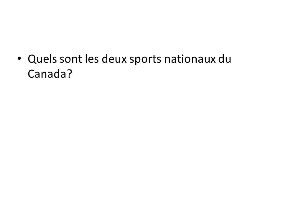 Quels sont les deux sports nationaux du Canada?