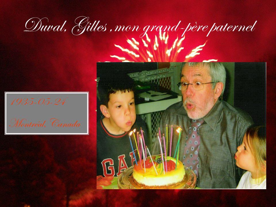 Duval, Gilles,mon grand-père paternel 1935-05-24 Montréal, Canada