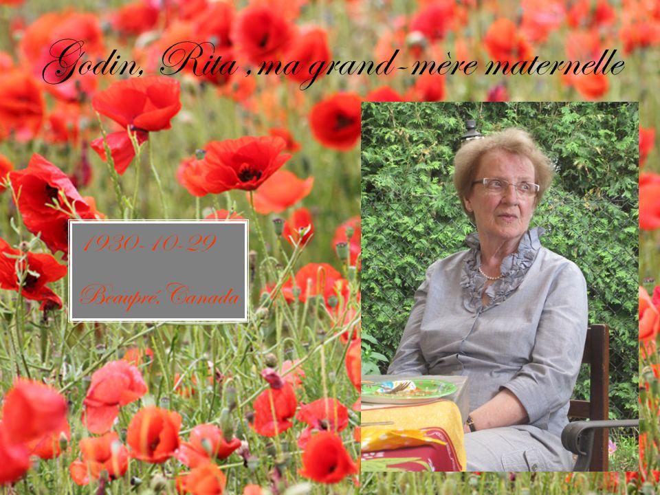 Bergeron, Nicole, ma grand-mère paternelle 1943-06-13 Granby,Canada