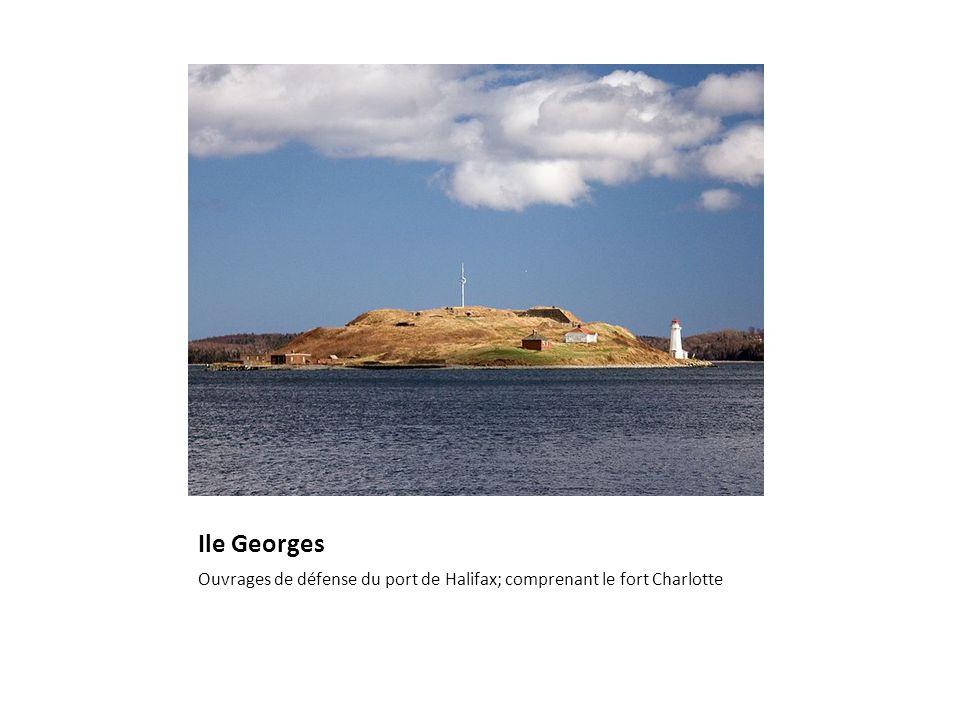 Ile Georges Ouvrages de défense du port de Halifax; comprenant le fort Charlotte