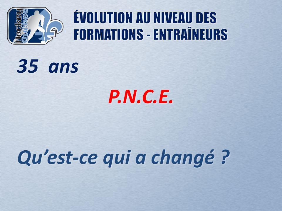 35 ans P.N.C.E. Quest-ce qui a changé ?