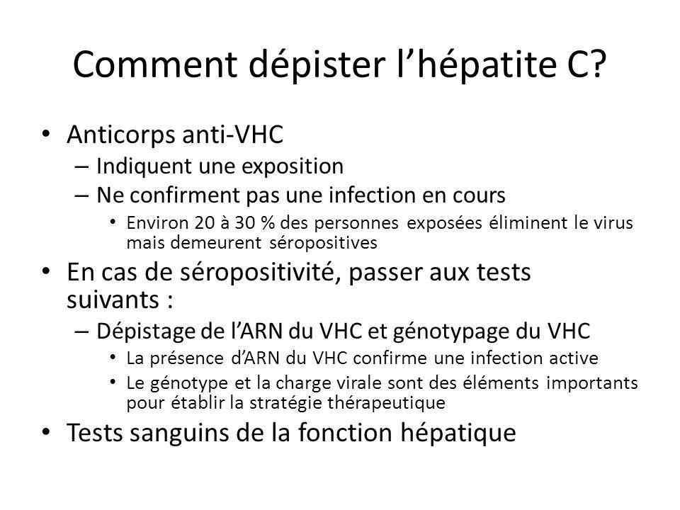 Comment dépister lhépatite C.