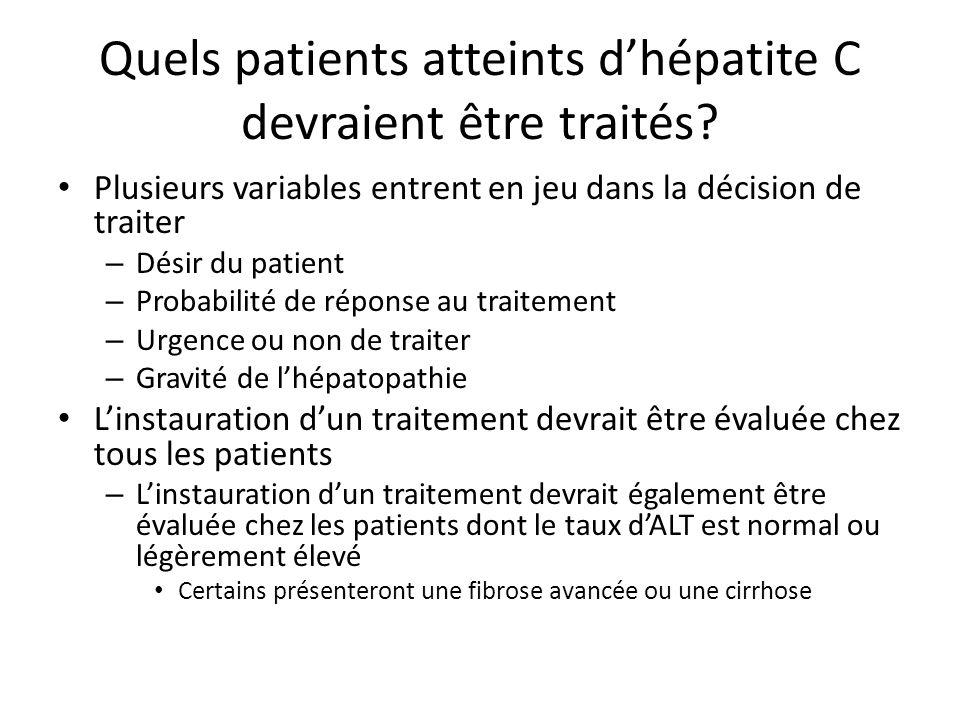 Quels patients atteints dhépatite C devraient être traités.