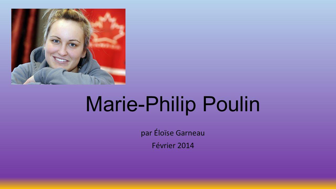 Marie-Philip Poulin par Éloïse Garneau Février 2014