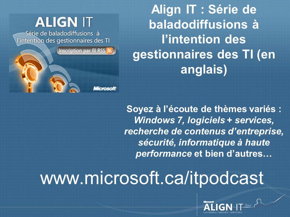 FAQ – Tournée Align IT Quand les documents de présentation seront-ils accessibles .