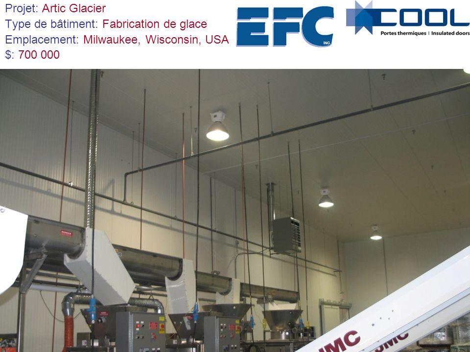 Projet: Artic Glacier Type de bâtiment: Fabrication de glace Emplacement: Milwaukee, Wisconsin, USA $: 700 000