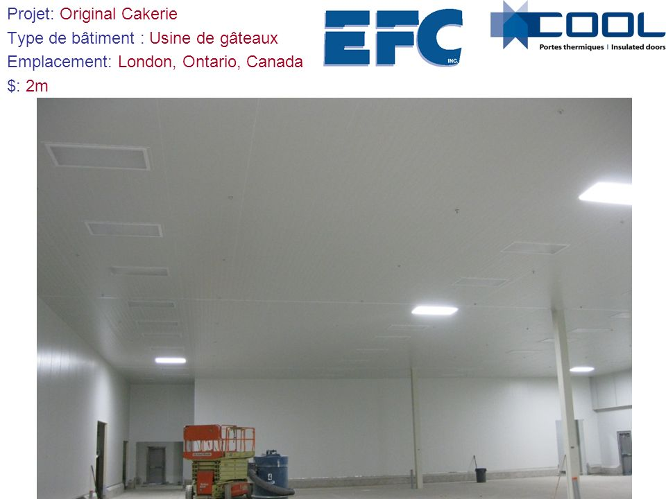 Projet: Provigo / Loblaws Type de bâtiment: Centre de distribution Emplacement: Québec, Québec, Canada $: 1,5m