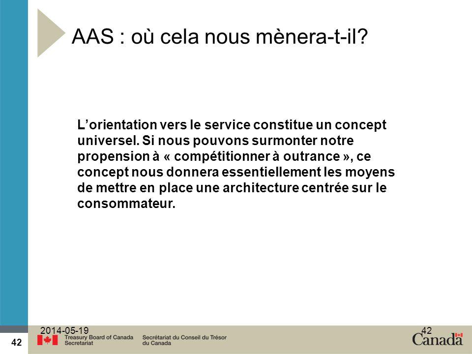 42 2014-05-1942 Lorientation vers le service constitue un concept universel. Si nous pouvons surmonter notre propension à « compétitionner à outrance