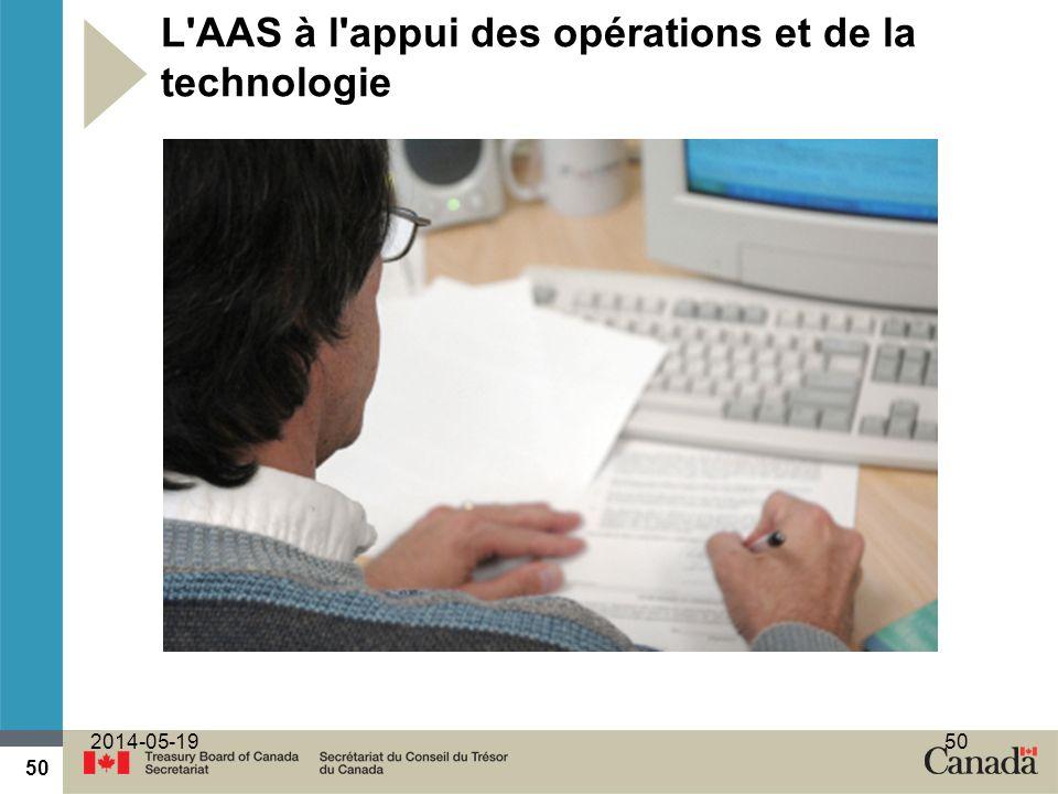50 2014-05-1950 L AAS à l appui des opérations et de la technologie