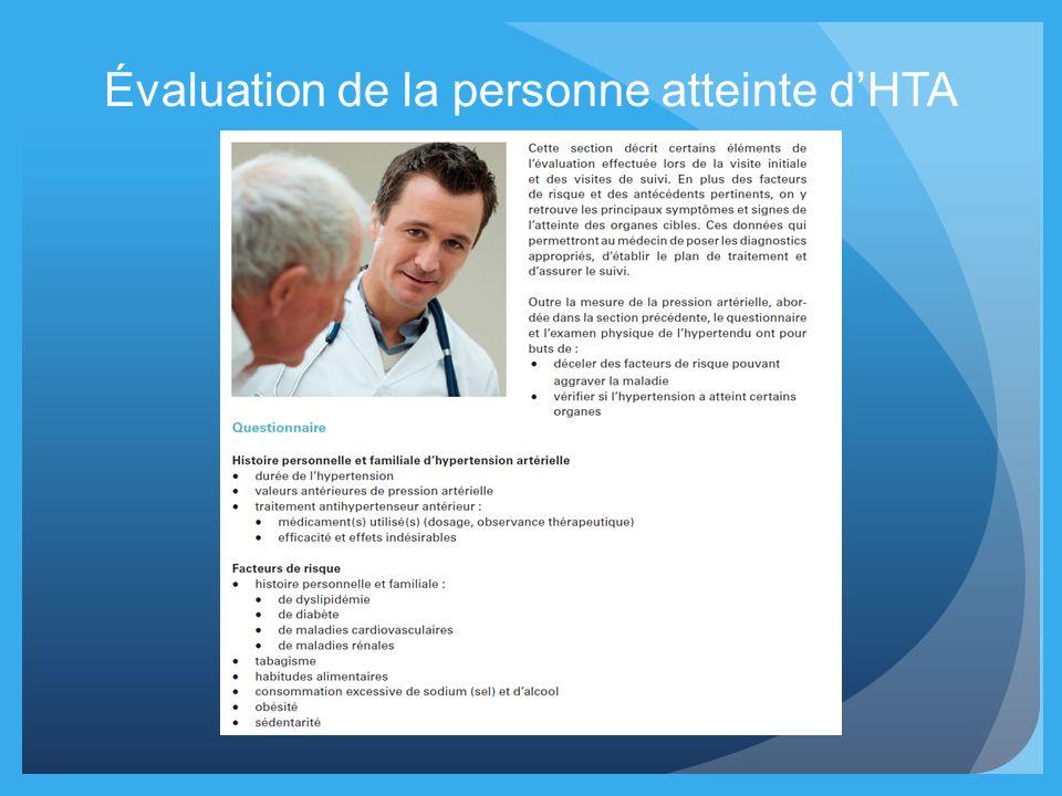 Évaluation de la personne atteinte dHTA