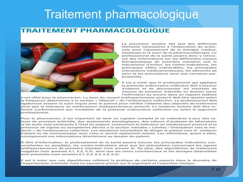 Traitement pharmacologique P 48