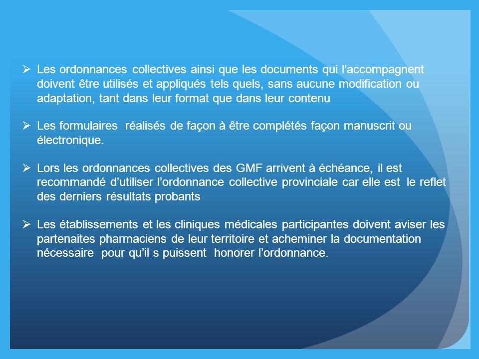 Les ordonnances collectives ainsi que les documents qui laccompagnent doivent être utilisés et appliqués tels quels, sans aucune modification ou adapt
