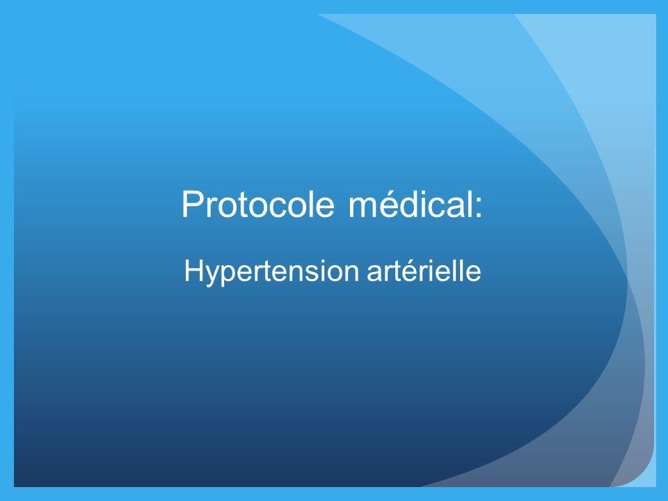 Protocole médical: Hypertension artérielle