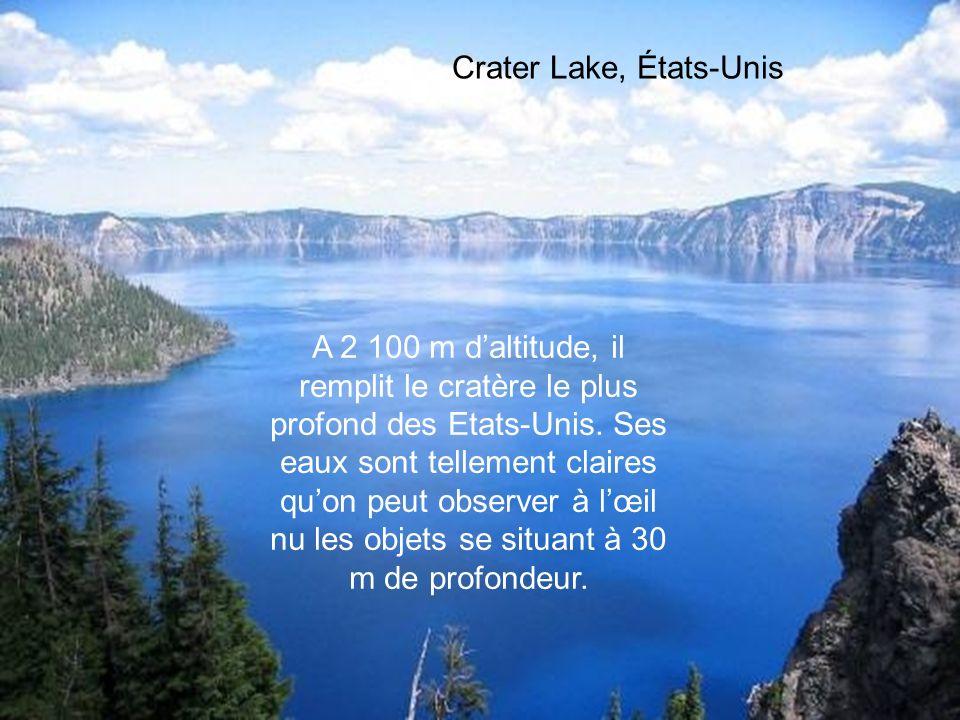 Lac Baïkal, Russie Le plus profond du monde, avec 1 637m. Ce lac quon surnomme