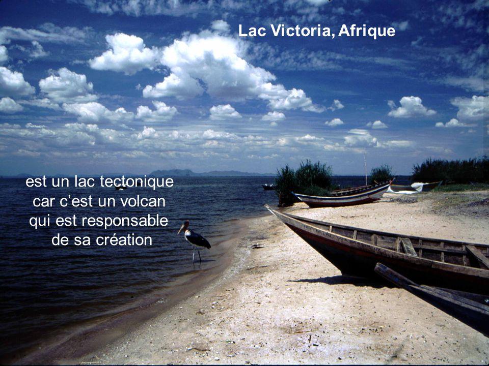 Lac de Belle-Isle,, France Lac Victoria, Afrique est un lac tectonique car cest un volcan qui est responsable de sa création