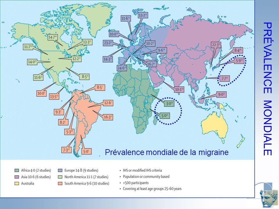 Prévalence mondiale de la migraine PRÉVALENCE MONDIALE