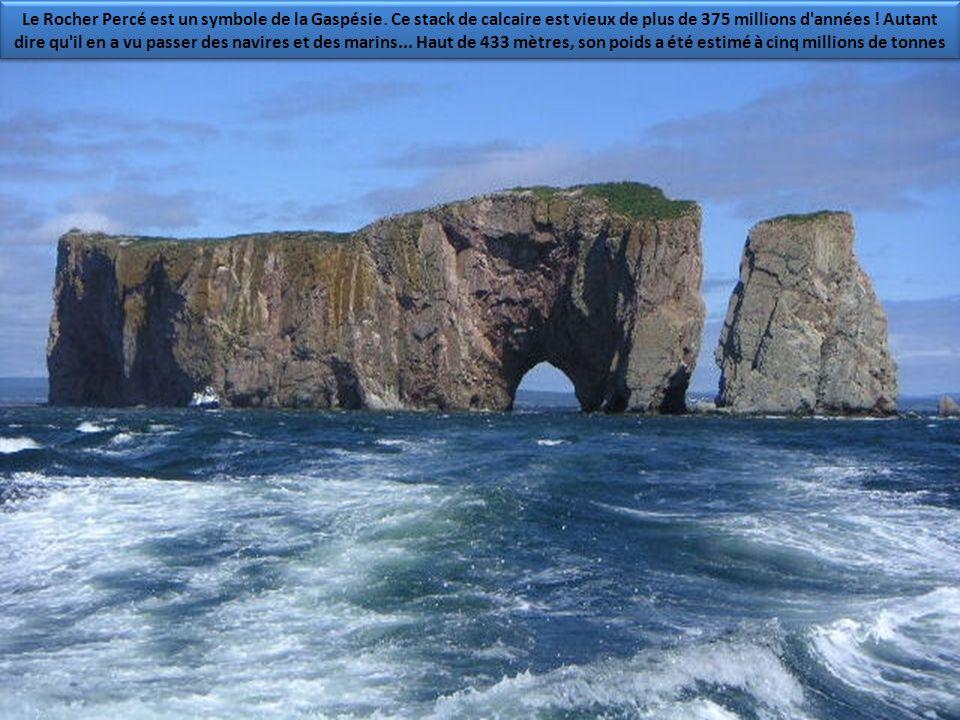 Le Rocher Percé est un symbole de la Gaspésie.