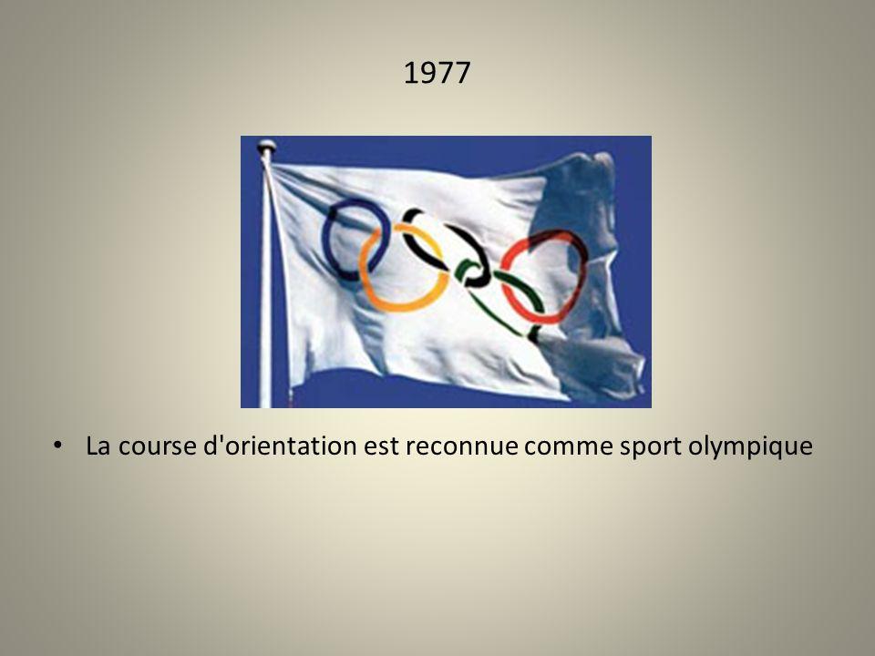 1977 La course d orientation est reconnue comme sport olympique