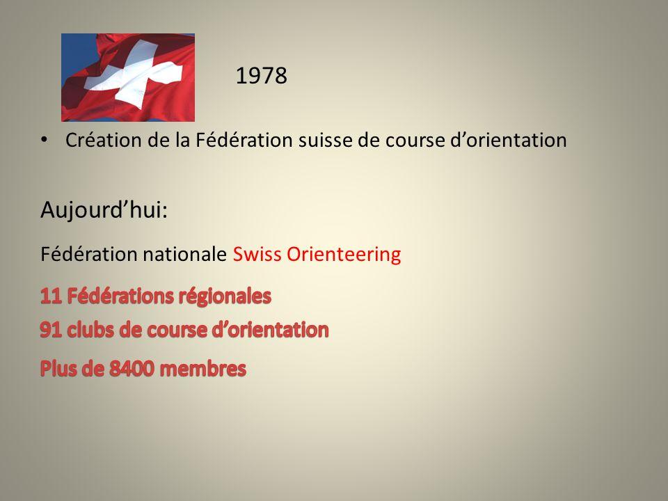 Création de la Fédération suisse de course dorientation 1978 Aujourdhui: Fédération nationale Swiss Orienteering